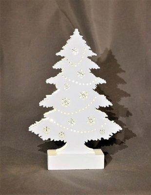 Tannenbaum Weiss Led.Amazon De Weihnachtsbaum Aus Holz Mit 7 Led Weiß Lackiert