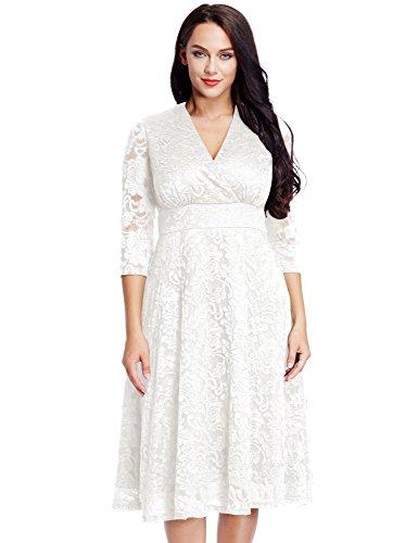 Plus Size White Lace Dress: Amazon.com