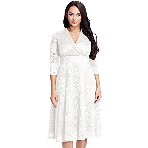 Plus Size White Lace Dress Amazon