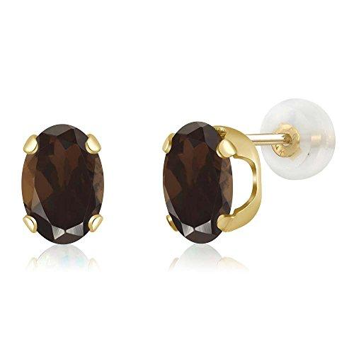 Smoky Quartz Chandelier Earrings - 1