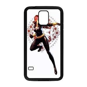 Black Widow Comic Samsung Galaxy S5 Cell Phone Case Black TPU Phone Case SV_249096