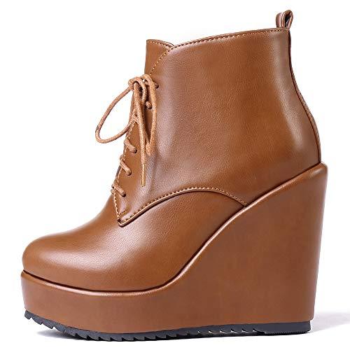 Bottes Talons Platform Boots À Jaunes Compensés Femme Razamaza tgfBwB