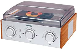 Jensen 3-speed Stereo Turntable With Amfm Stereo Radio (Silver)