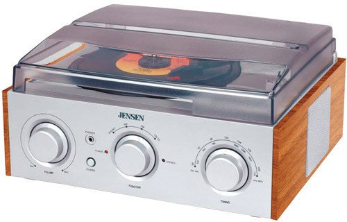 Jensen 3-Speed Stereo Turntable with AM/FM Stereo Radio (Silver) by Jensen (Image #4)
