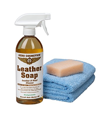 Leather Cleaner Leather Soap Aircraft Quality for Your Car RV and Furniture 16oz Better Than Automotive Products Meets Boeing Aircraft Specifications (1 Kit)
