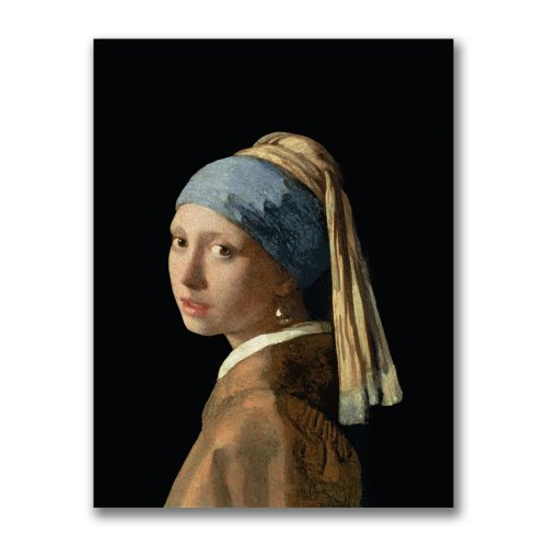 (Girl With A Pearl Earring by Jan Vermeer, 24x32-Inch Canvas Wall)