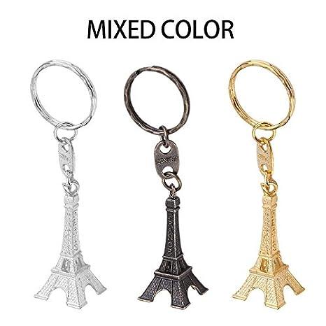 Retro Mini Paris Torre Eiffel modelo llavero llavero metal ...