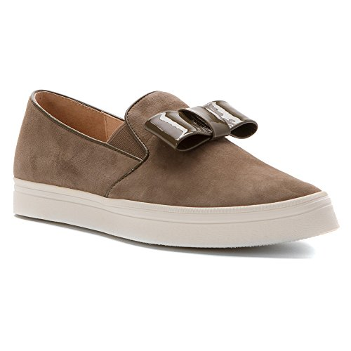 ALL BLACK Womens Tux Loafers Shoes Taupe