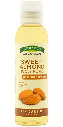 Nature's Truth Aromatherapy Pure Unscented Base Oil, Sweet Almond, 4 Fluid Ounce by Nature's Truth