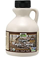 NOW Foods, Certified Organic Maple Syrup, Grade A Dark Color, Certified Non-GMO, Pure, Robust Taste, 16-Ounce