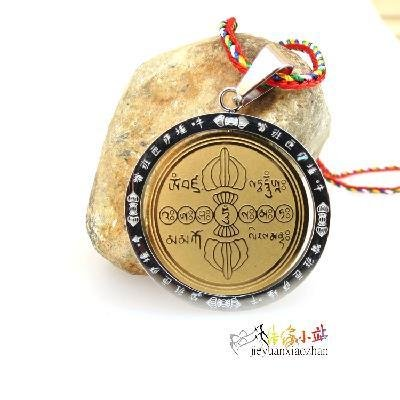 (steel Vajrasattva hundred words mantra mantra vajra necklace pendant worn talisman free wheel necklace pendant curse)