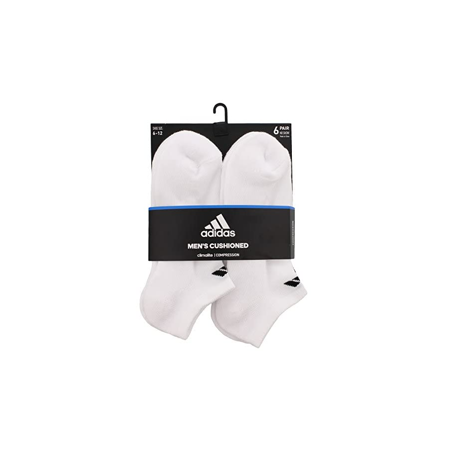 adidas Men's No Show Athletic Sock (6 Pack)