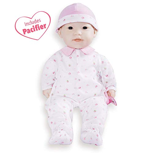 JC Toys, La Baby 16-inch Asian Washable Soft Baby Doll with Baby Doll Accessories - For Children 12 Months and older, Designed by Berenguer