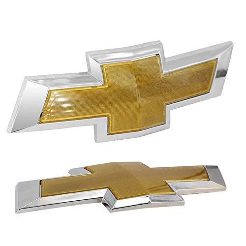 Targhetta logo Chrome 3D Auto Cappuccio anteriore Emblema Badge Targhetta autoadesiva per Accessori auto Chevrolet Cruze Colore argento e oro