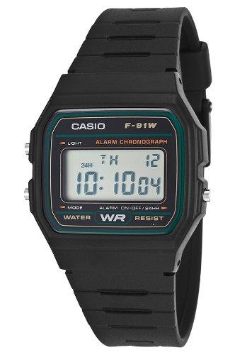 Casio F-91W-3Dg Men's Digital Multi-Function Black Rubber (Multifunction Black Rubber Watch)