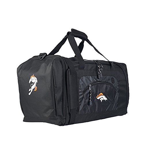 Amirshay, Inc. Denver Broncos NFL Roadblock Duffel Bag (Black/Black) (2-Pack) by Amirshay, Inc.