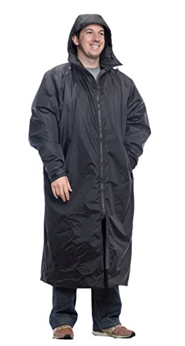 - Mambe Extreme Weather 100% Waterproof Cascade Full Length Jacket Made in The USA Black