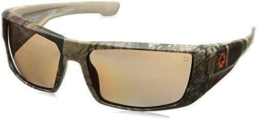 Spy Optic Dirk Polarized Wrap Sunglasses, Spy/Real Tree/Happy Bronze Polar, 64 - Real Sunglasses Spy