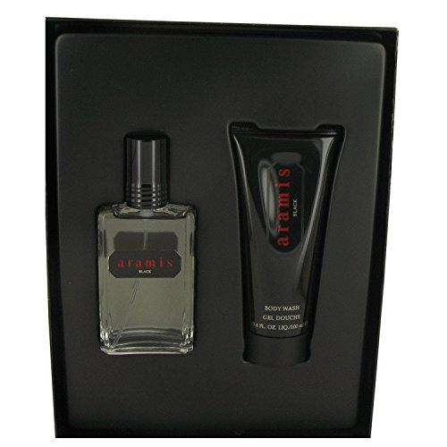 Aramis Black by Aramis Gift Set -- 2 oz Eau De Toilette Spray + 3. 4 oz Body Wash (Aramis Gel Shower Gel)