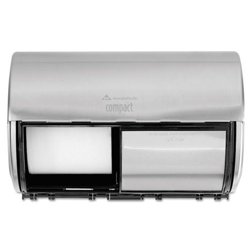 Georgia Pacific Compact Horizontal 2-Roll Tissue Dispenser, Stainless Steel, 10 1/8 x 6 3/4 x 7 1/8 - BMC-GEP 56798 by Miller Supply Inc