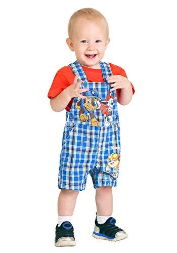 - Infant Paw Patrol Plaid Shortall Set 18 Months Blue
