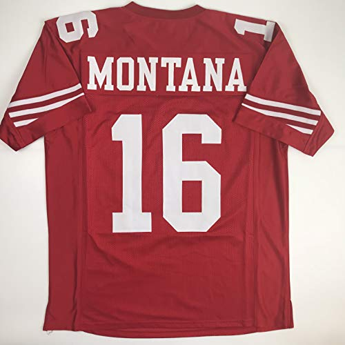 Unsigned Joe Montana San Francisco Red Custom Stitched Football Jersey Size XL New No -