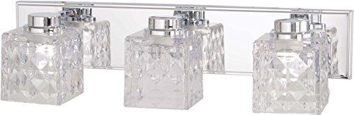 (Minka Lavery Wall Light Fixtures 4793-77-L Glorietta Bath Vanity Lighting, 3-Light LED 24 Watts, Chrome)