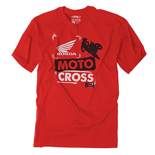 Factory Effex 21-83332 Unisex-Child Honda Paint Youth T-Shirt (Red, Medium), 1 Pack