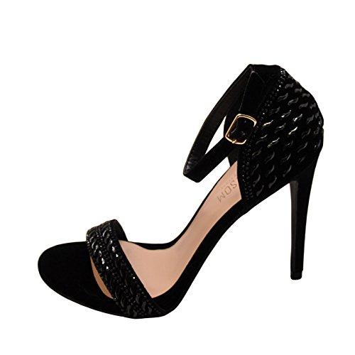 Blossom Angie 39 Womens Embellished Formal Heels Black Sparkle XCs5LhKeGt