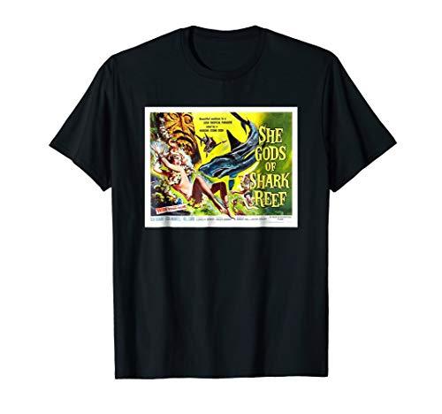 - She Gods Of Shark Reef Vintage Cinema Poster TShirt