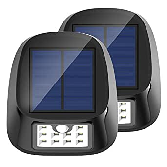 Solar Light, 10 LED Waterproof Outdoor Wireless Motion Sensor Lights with 3 Modes, 2-Pack