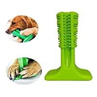 MTSZZF Pet Non-Toxic Silicone Doggy Brush Stick Chewing Toy, Effective Dog Toothbrush Molar Stick Brushing Stick For Dog Teeth Cleaning Play Fun - Green