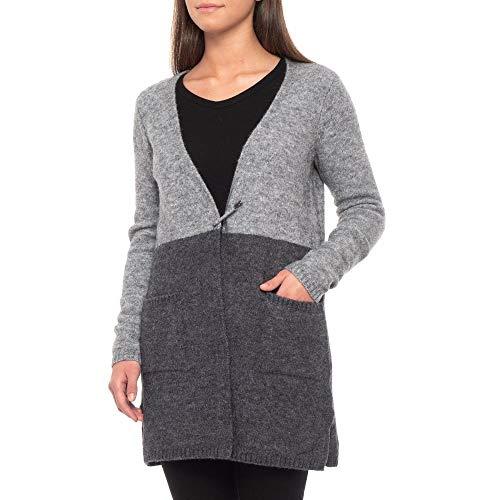 (マックス スタジオ) Max Studio レディース トップス カーディガン Colorblock Cardigan Sweater with Pin Closure - Wool Blend [並行輸入品]
