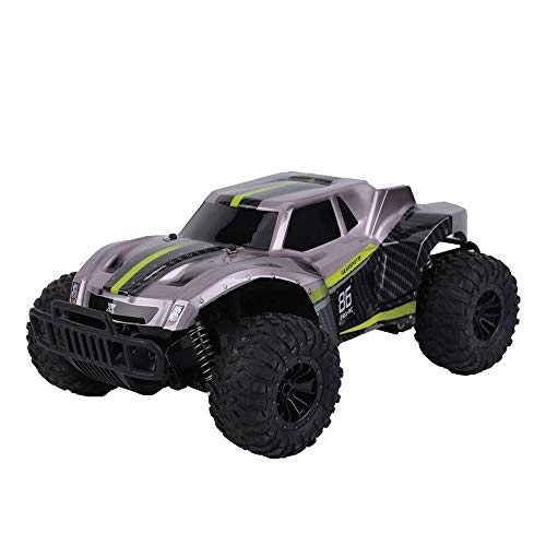 RC Car, DeXop Newest 2.4Ghz 20km/H High Speed Remote Control Car 1/16 Scale RC Truck Radio Control Vehicle Off Road Remote Control Monster for Kids & Adults-Black Green