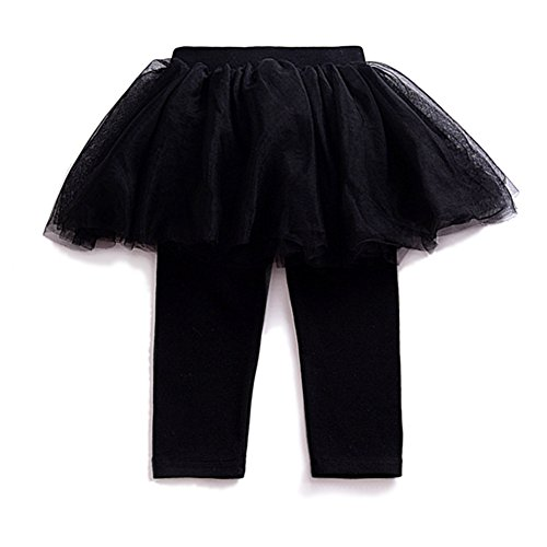 YOHA Baby Girls Tulle Tutu Pants Culotte Autumn Toddler Bottom Leggings Dress Black,120