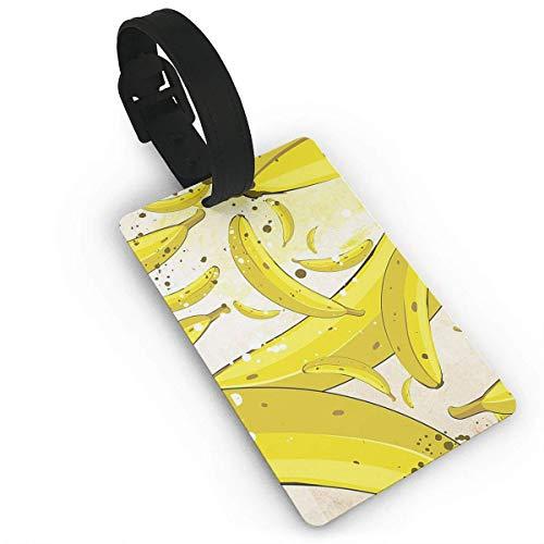 HappyToiletLidCoverX Luggage Tag Chocolate Banana Luggage Tag Suitcase Suitcase Label Bag Travel PVC Size 2.2'' X - Buckle Laminated Chocolate
