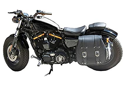 monoborsa Bolsa Lateral Garganta Amortiguador Parte Izquierda Small Pequeño x moto Harley Davidson SPORTSTER XL 883 1200 48 Nightster Iron Custom Low ...
