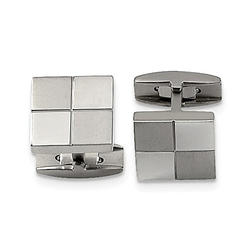 ICE CARATS Titanium Cuff Links Mens Cufflinks Man Link Fashion Jewelry Gift for Dad Mens for Him