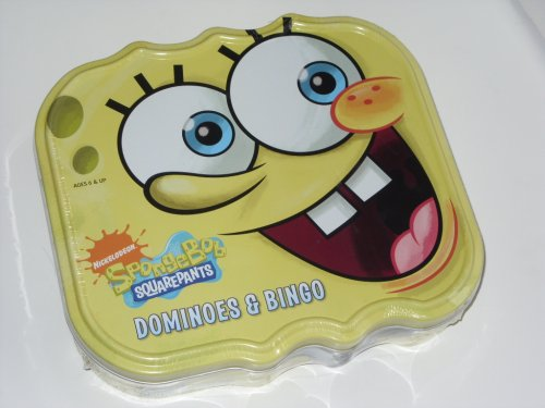 Spongebob Squarepants Dominoes and Bingo in Tin Metal Box (Dominoes Spongebob)