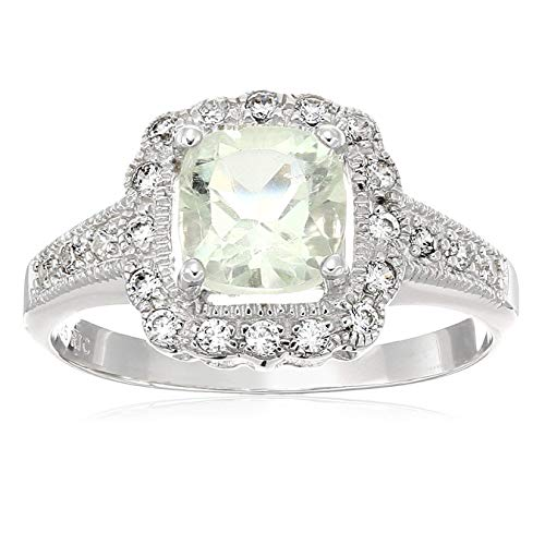 Sterling Silver Green Amethyst Ring, Size 9 ()