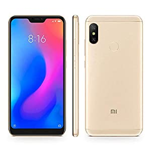 Xiaomi Mi A2 Lite (64GB, 4GB RAM) 5.84″ 18:9 HD Display, Dual Camera, Android One Unlocked Smartphone – International Global LTE Version (Gold)