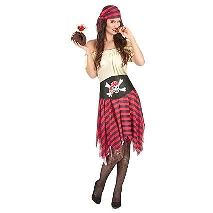 traje de pirata para las mujeres disfrazar M: Amazon.es ...