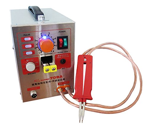 110V US CA 1.5kw 709A Micro-computer Pedal control battery spot welder+Soldering  B01KA18P1O