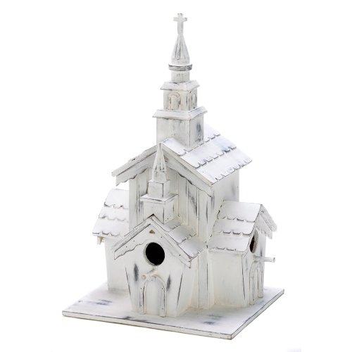 Gifts & Decor Little White Country Church Chapel Garden ()