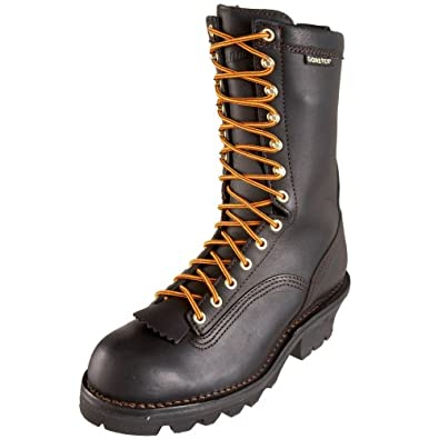 Amazon.com | Danner Men's Quarry Logger GTX Work Boot, Black, 7 EE ...