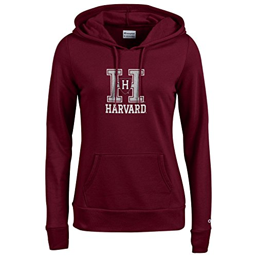e738af8e942f Champion NCAA Women s Comfy Fitted Sweatshirt University Fleece Hoodie Harv.