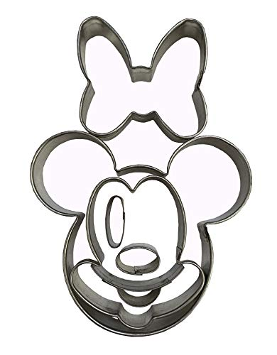 MICKEY MINNIE MOUSE DISNEY FACE CUTTER Cookie Cutter Biscuit Cutters By Oh! Sweet Art Approved for Food -