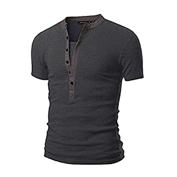 Amazon.com : CHRWANG New Fashion Mens Stylish Shirt Short Sleeve ...