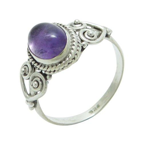 Banithani925 en argent sterling améthyste marque anneau nouveau bijoux design