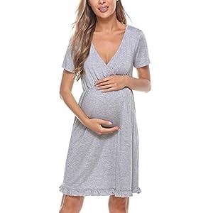 Dove acquistare Doaraha Vestiti Premaman Eleganti Camicia da Notte Parto Ospedale Cotone Camicia da Notte Premaman Abito Manica Corta…